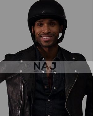 Nathan Mitchell Ginny and Georgia Zion Miller Black Biker Leather Jacket