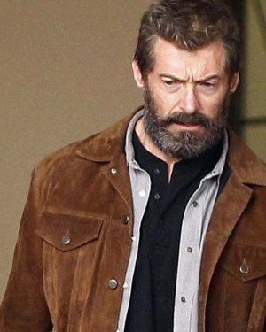 3 X-Men LoganHugh Jackman 3 X-Men Logan Wolverine Brown Leather Jacket Wolverine Hugh Jackman Suede Leather Jacket