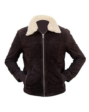 Andrew Lincoln The Walking Dead Brown Suede Leather Jacket