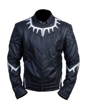 Black Panther Avengers Infinity War Black Leather Jacket