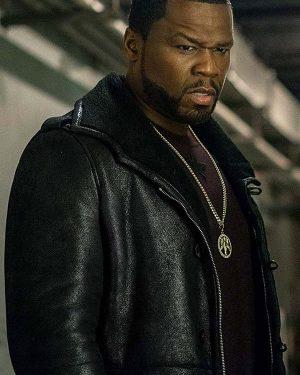 50 Cent TV Series Power Season 05 Shearling Black Leather Jacket