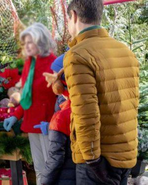 Sam Page A Godwink Christmas Second Chance, First Love Pat Puffer Jacket