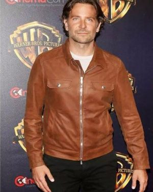 Bradley-Cooper-Brown-Leather-Jacket