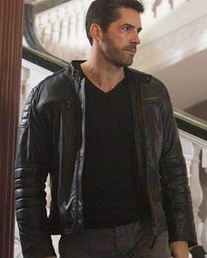 Scott Adkins Accident Man Black Leather Jacket