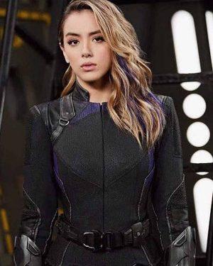 Chloe Bennet Agents of Shield Black Jacket