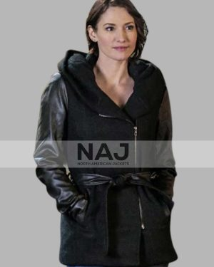 Supergirl Chyler Leigh Black Hooded Jacket