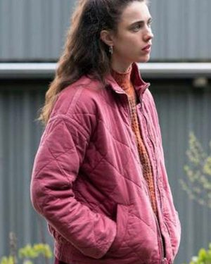 Margaret Qualley TV Series Maid Alex Pink Quilted Cotton Jacket
