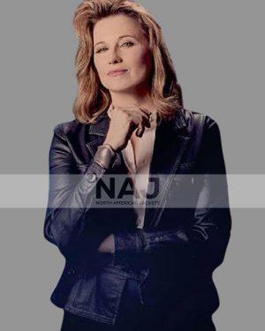 Alexa Crowe My Life Is Murder Lucy Lawless Leather Blazer Jacket