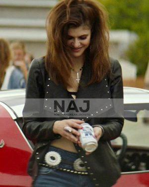 Alexandra Daddario We Summon the Darkness Black Leather Jacket