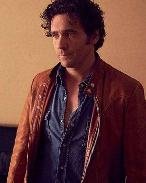 Allan Hawco Caught David Slaney Cafe Racer Brown Leather Jacket
