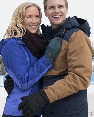 Amazing Winter Romance Julia Miller Blue Hooded Jacket