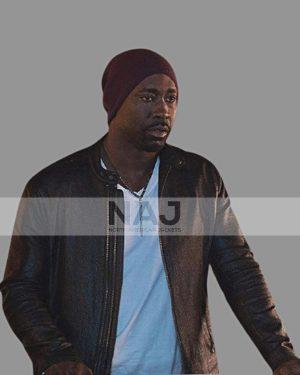 D.B. Woodside TV Series Lucifer Amenadiel Black Leather Jacket