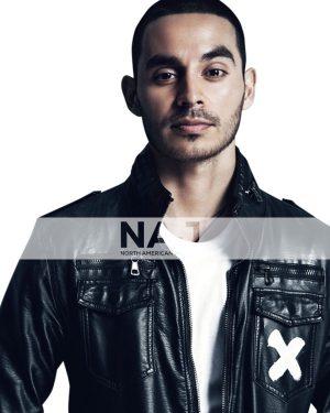 Manny Montana Black Bomber Leather Jacket