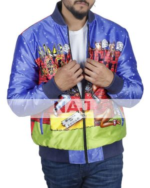 American Rapper Snoop Dogg Polyester Bomber Jacket