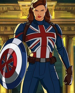 What If...? Peggy Carter UK Flag Leather Jacket