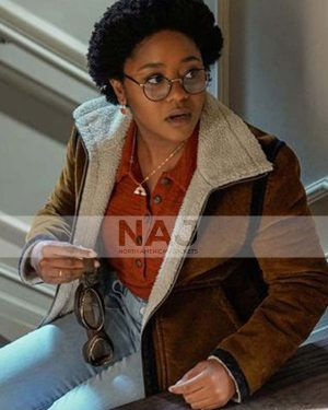 Beth Chapel Stargirl Season 01 Anjelika Washington Shearling Jacket