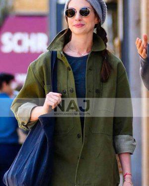 Rebekah Neumann WeCrashed Anne Hathaway Green Cotton Jacket