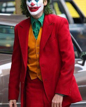 Joker Joaquin Phoenix Red Tuxedo