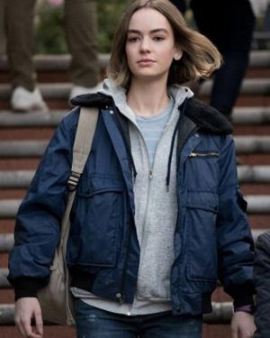 Brigette Lundy-Paine Atypical Blue Shearling Jacket