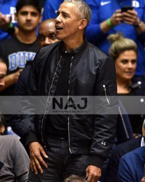 Barack Obama Casual Bomber Jacket