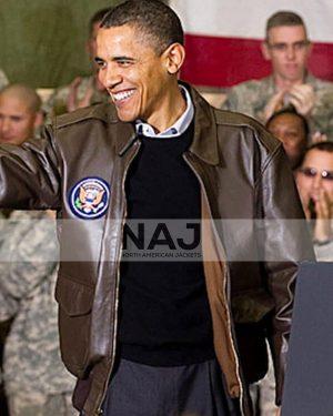 Leather Barack Obama Jacket