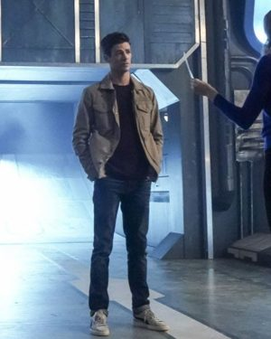 Grant Gustin TV Series The Flash Season 5 Barry Allen Brown Cotton Jacket