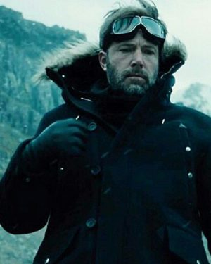 Ben Affleck Justice League Batman Shearling Black Wool Jacket