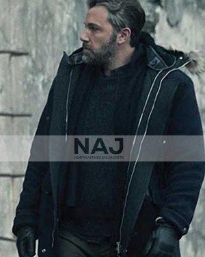 Batman Justice League Ben Affleck Black Wool Parka Jacket