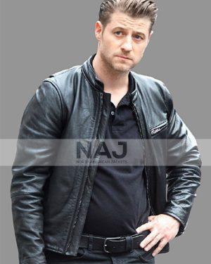 Ben McKenzie TV Series Gotham James Gordon Slim-Fit Black Leather Jacket