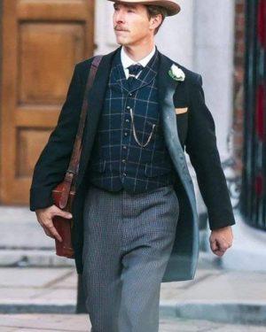 The Electrical Life of Louis Wain 2021 Benedict Cumberbatch Black Wool Coat