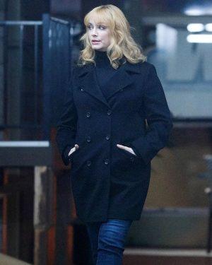 Christina Hendricks Good Girls Black Wool Coat