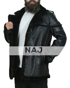 Billy Russo The Punisher Leather Shearling Jacket