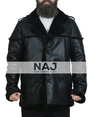 The Punisher Season 2 Ben Barnes Shearling Leather Jacket