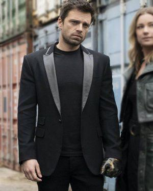 Sebastian Stan The Falcon And The Winter Soldier Black Blazer