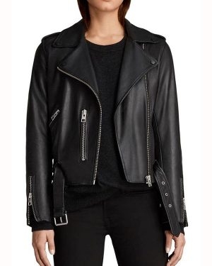Pretty Little Liars the Perfectionists Sydney Park Black Leather Jacket