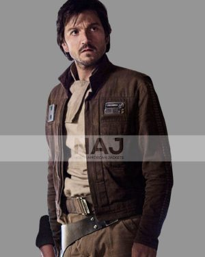 Rogue One A Star Wars Story Captain Cassian Andor Brown Cotton Jacket