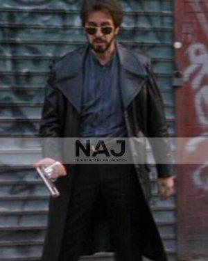 Al Pacino Carlito's Way Carlito Brigante Black Leather Trench Coat