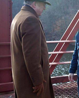 Carmine Falcone Gotham TV Series John Doman Brown Trench Wool Coat