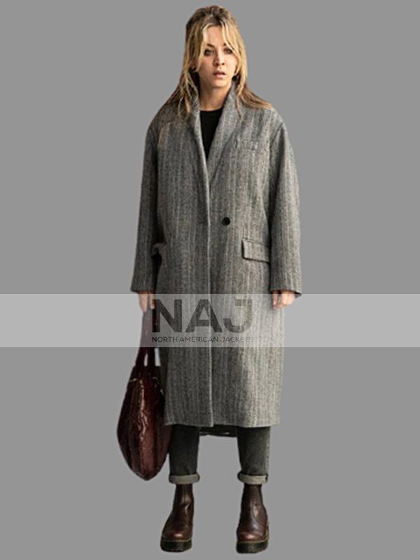 Kaley Cuoco The Flight Attendant Wool Gray Coat