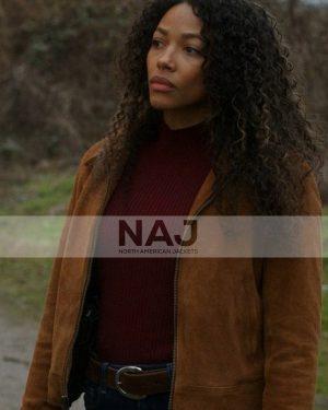 Kylie Bunbury TV Series Big Sky Cassie Dewell Brown Jacket