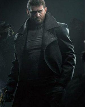Chris Redfield Resident Evil Village Black Wool Coat
