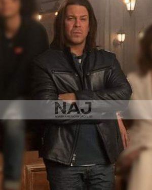 Eliot Spencer Leverage Redemption Christian Kane Black Leather Jacket