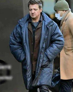Jeremy Renner TV Series Hawkeye Clint Barton Parachute Blue Coat