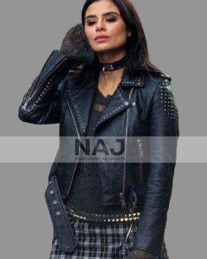 Diane Guerrero Doom Patrol Biker Studded Leather Jacket