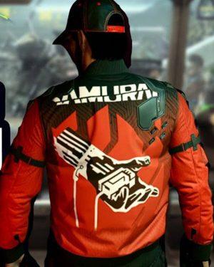 Samurai Cyberpunk 2077 Orange Jacket