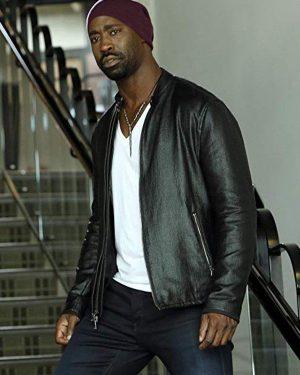 Amenadiel Tv Series Lucifer S06 D.B. Woodside Black Leather Jacket
