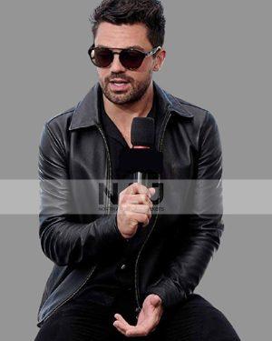 Dominic Cooper TV Series Preacher Jesse Custer Black Leather Jacket