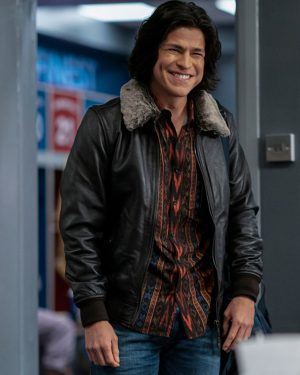 Ted Lasso Season 2 Cristo Fernández Black Leather Jacket