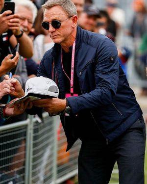 Daniel Craig No Time to Die Blue Cotton Jacket