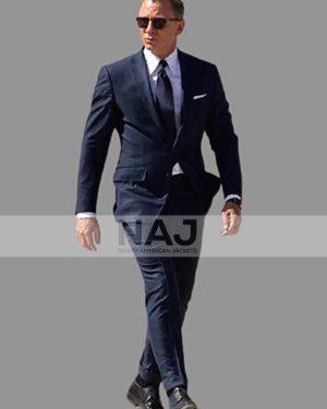James Bond Spectre 2015 Daniel Craig Navy Blue Suit